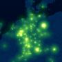 iPhones ziehen leuchtende Spuren über das nächtliche Europa