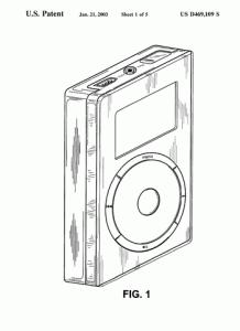 Patentzeichnung zum iPod aus dem Jahr 2001
