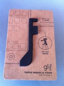 minimalistische Kartonverpackung des glif