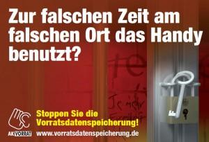 Poster gegen Vorratsdatenspeicherung