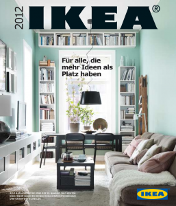 Titelseite des IKEA Katalogs 2012