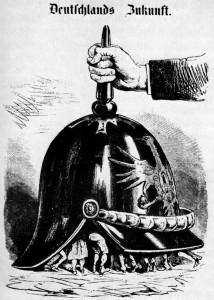 österreichische Karikatur zur Reichsgründung 1870