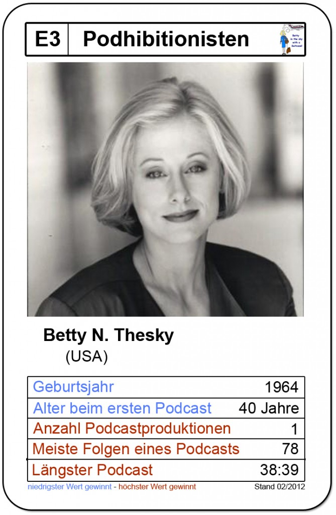 Quartettkarte Betty N. Thesky