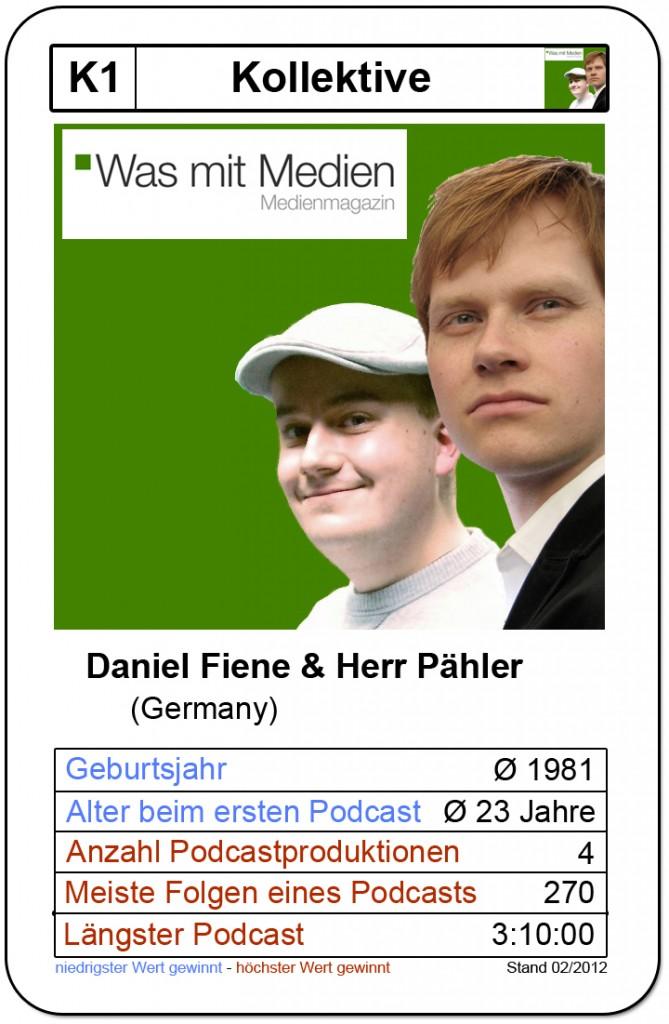 Quartettkarte Daniel Fiene & Herr Pähler