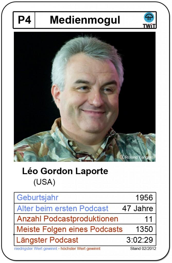 Quartettkarte Leo Laporte