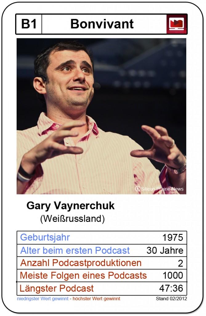 Quartettkarte Gary Vaynerchuk