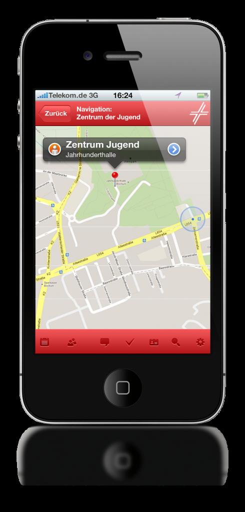 Navigation zu Veranstaltungsort