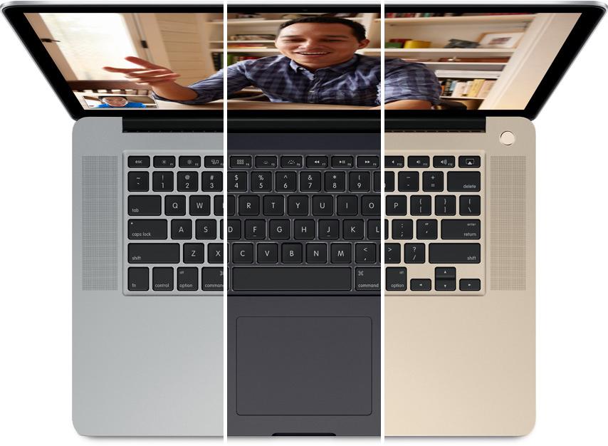 Das Apple Macbook Pro 2013 wird in Silber, Spacegrau und Gold erhältlich sein