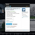 In App Authentifizierungs Screen der Twitter App
