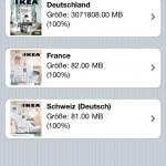 Die App kann mehrere Kataloge unterschiedlicher Länder lokal vorhalten