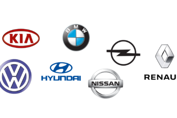 Logos der Marken mit interessanten Elektroautos